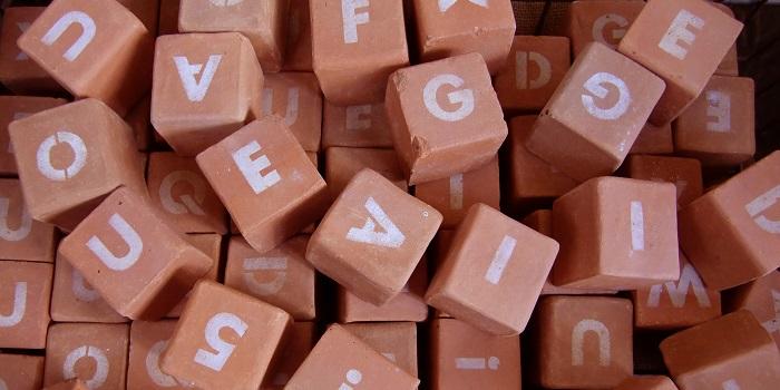 アルファベットのキューブ