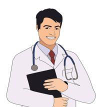 白衣姿の医師