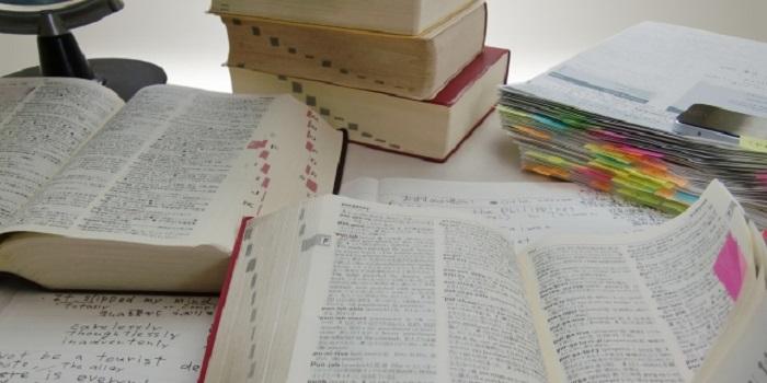 乱雑な英語の本